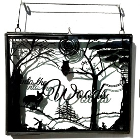 into the woods papercut